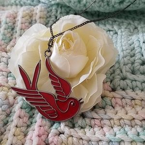 Tattoo Bird Necklace